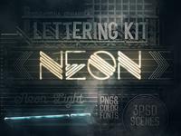 Neon Light Lettering Kit
