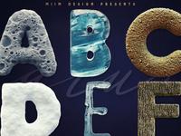 3D Lettering Mega Bundle 7 Nature