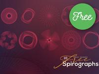 10 FREE Vector Spirographs 2