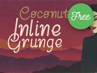 Coconut Inline Grunge – Free Font