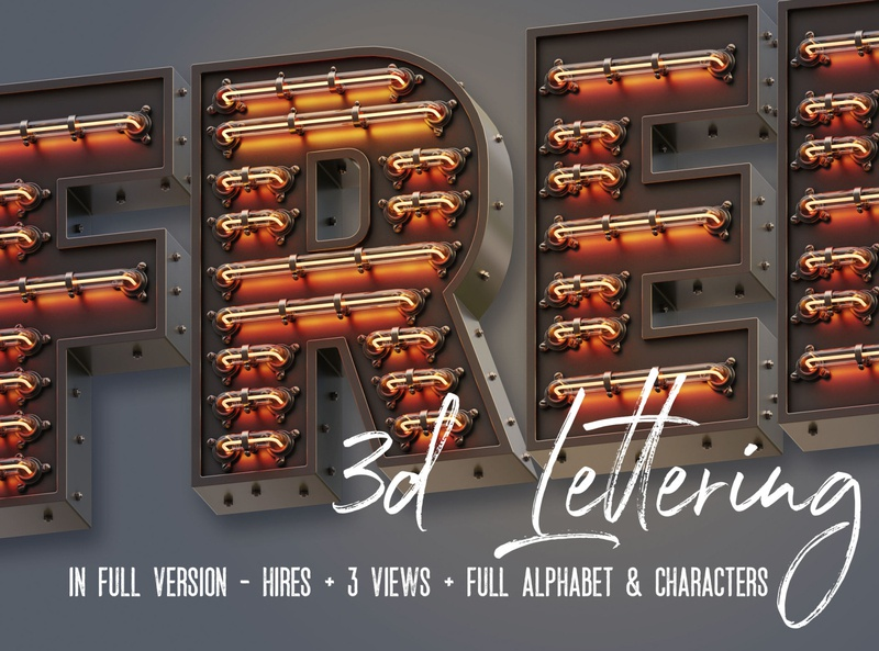 Free Marquee 3D Light Letters free download neon letters neon typography neon font neon light letters light font retro typography retro font marquee free typography free font font vintage free graphics typography freebie free