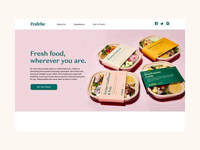 Fraiche Marketing Website branding concept motion design icons illustration art direction ui product design webdesign web branding design branding