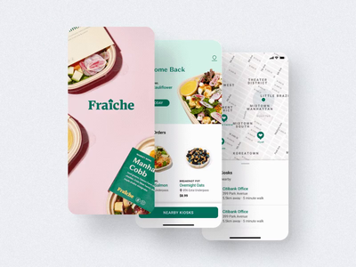 Fraiche iOS design branding concept health app food app art direction icons design system branding animation mobile ios ui product design