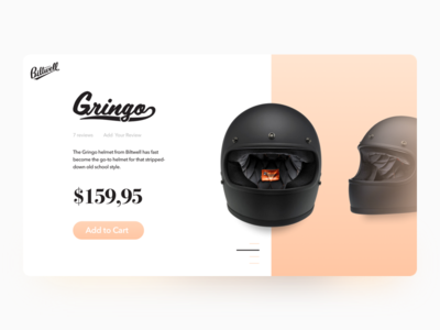 El Gringo - Product Details Card shadow gradient ui motorcycle product card product details