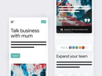 Mobile Landing Page for @Mum