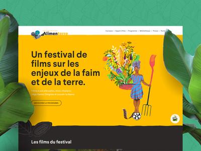 Festival Alimenterre festival web design ui design