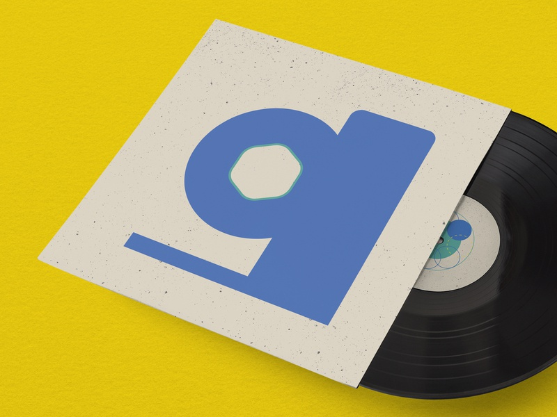 G is for geocentric psychedelic vinyl cover vector illustrator abstract the letter g g typogaphy shapes album cover design illustration texture vintage minimal