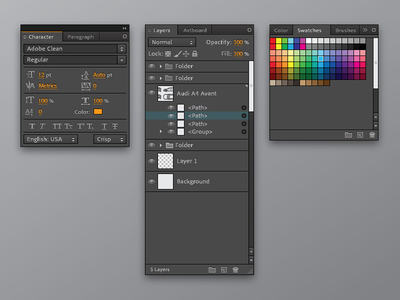Adobe Illustrator dark ui design visual ui vectors illustrator adobe