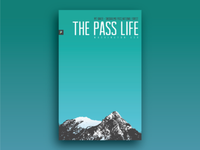 The Pass Life Poster design vector poster washington snoqualmie life pass