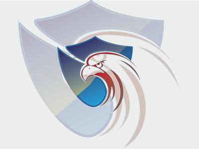 Eagle shield security logo