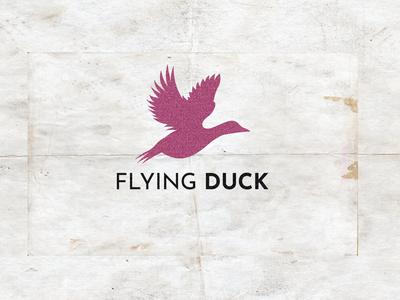 Flying duck logo design