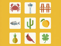 State Icons for Words With Friends Infographic