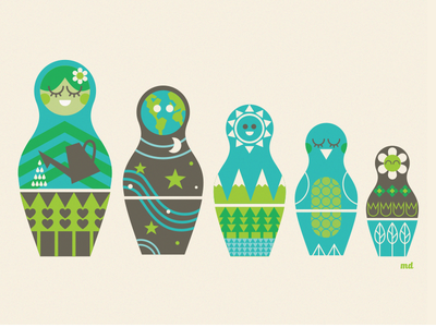 Mother Earth earth day nesting dolls mother earth matryoshka sketch dailies