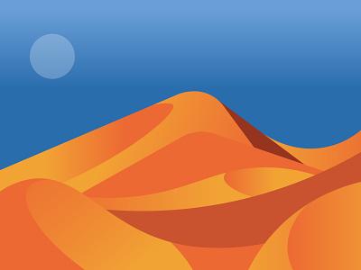 Desert flat vector design illustration