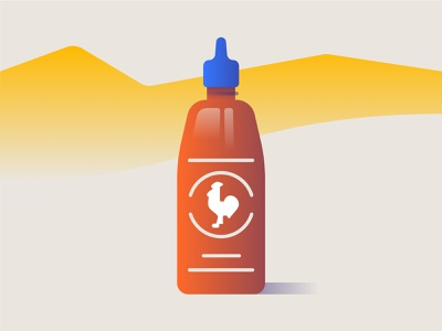 Sriracha design sriracha sauce vector illustration
