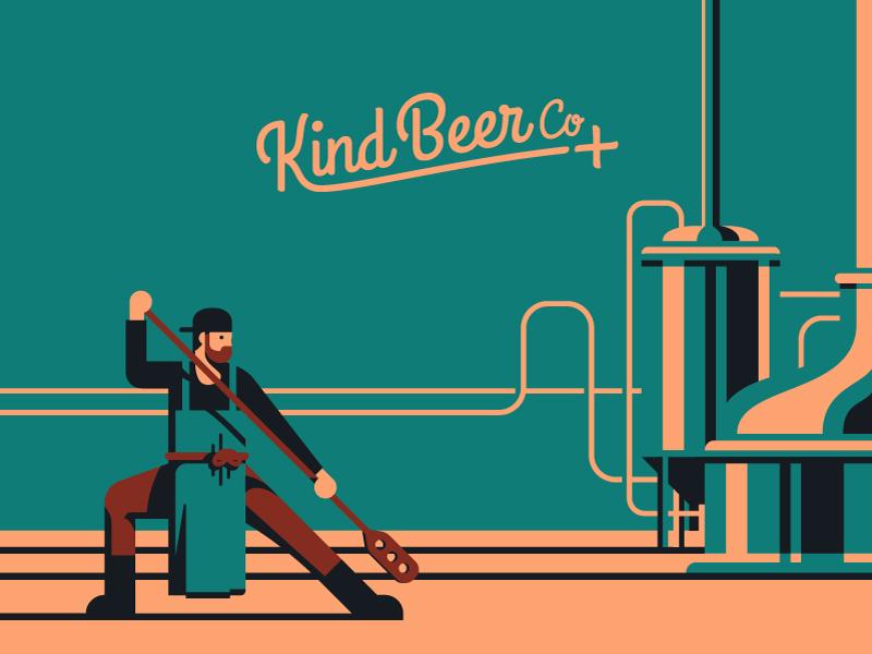 Kind Beer Co By Peter Henderson Dribbble Dribbble