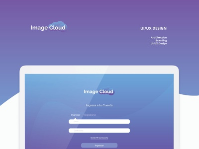 IMAGECLOUD cover vector ux ui simple portfolio mobile layout interface illustration flat digital design creative clean branding app android agency