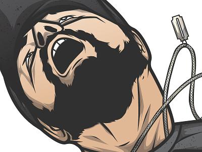 Selfie 1 pentool vector wacom illustrator
