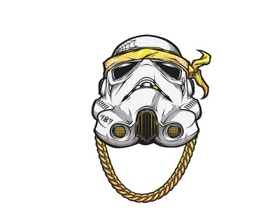 Trooper pentool wacom illustration vector