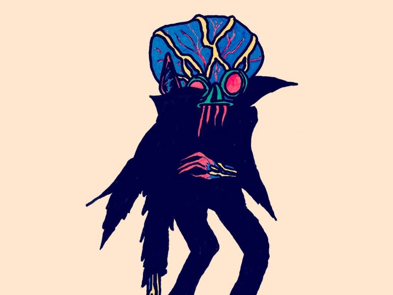 Day 1: The Ghoul monster craig gleason inktober sotbgc4 illustration season of the bad guys club bad guy