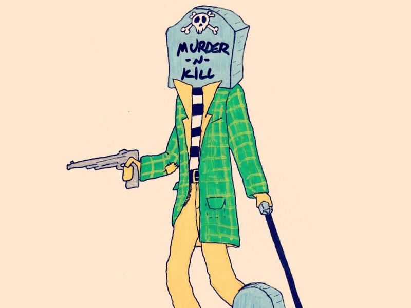 Day 2: Block-Head bad guys craig gleason season of the bad guys club monster inktober illustration sotbgc4