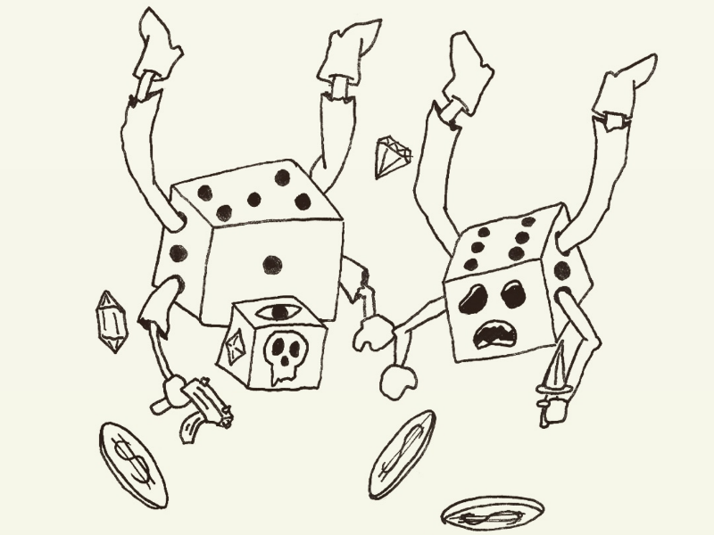 Day 4: Dice-Boys season of the bad guys club sotbgc illustration monster inktober craig gleason
