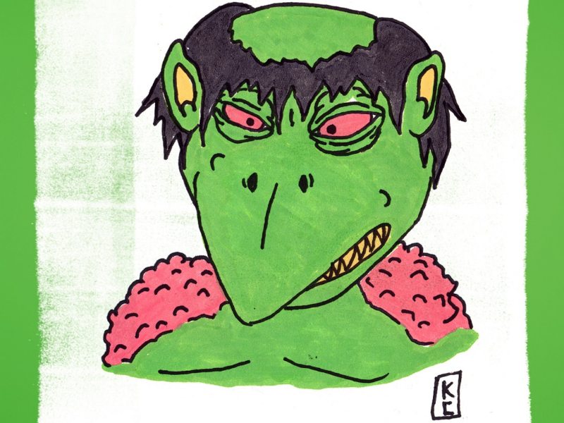 Day 10: Kaiju-Kreep season of the bad guys club sotbgc4 monster inktober craig gleason illustration