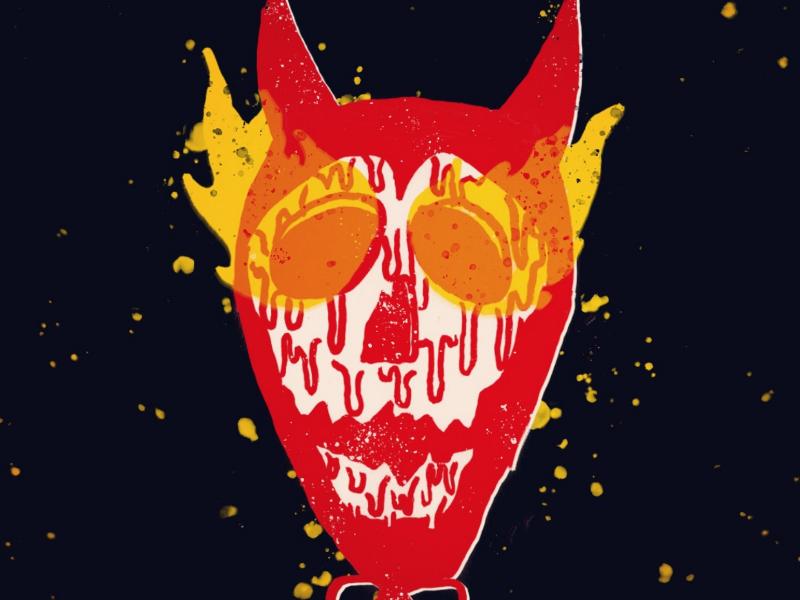Day 15: Skele-Devil season of the bad guys club sotbgc4 monster inktober craig gleason illustration