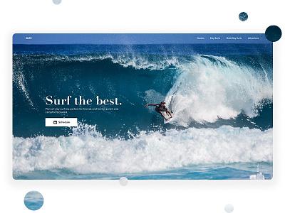 Landing Page Exploration #04 exploration travel surfing adventure ux ui landing page website web design surf clean