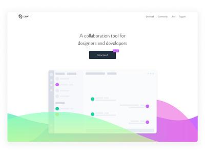 Gradient Landing Page gradient design exploration website landing page app web design clean ux ui