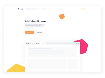 Modern Web Browser Landing Page madewithadobexd modern browser web browser dark theme design exploration website landing page web design clean ux ui