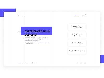 Modern Portfolio Website madewithadobexd design exploration website landing page web design clean ux ui