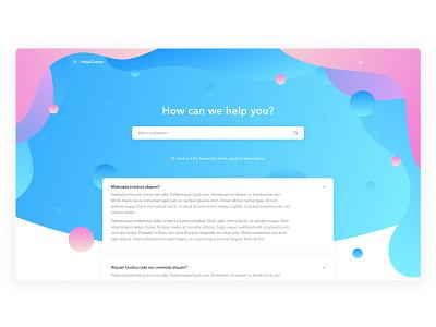 Help Center Website faq help center colorful app color madewithadobexd design exploration website landing page web design clean ux ui