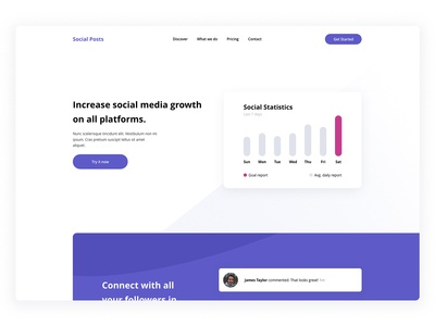 Social Growth Landing Page