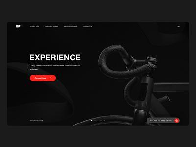 Bike Landing Page bike adobe dimension madewithadobexd dark theme design exploration website landing page web design clean ux ui