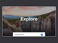 Travel Landing Page - Parallax Effect