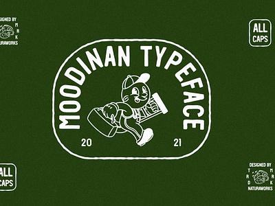 MOODINAN TYPEFACE typography hand font displayfont typeface creativemarket
