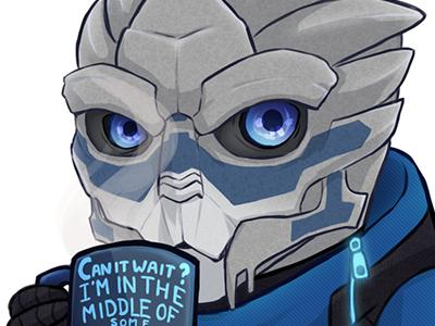 Mass Effect Sticker Designs: Calibrations garrus vakarian mass effect garrus