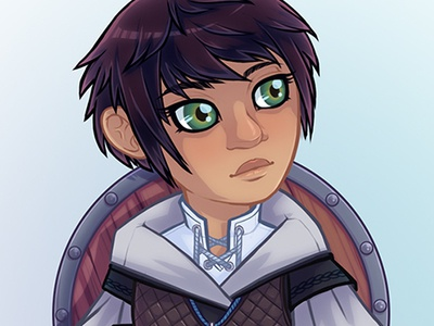 Juniper character design illustration commission dnd