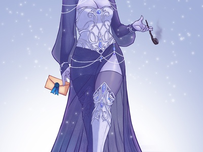 Winter Dress characterdesign costumedesign wow warcraft illustration