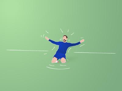 eden hazzard celebration happy celebration ball football goal player papercut illustration illustrator
