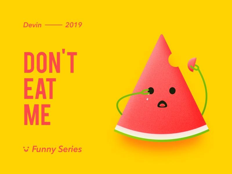 Don't eat me identity illustrator web typography vector lettering flat 品牌 branding 插图 illustration 设计 design