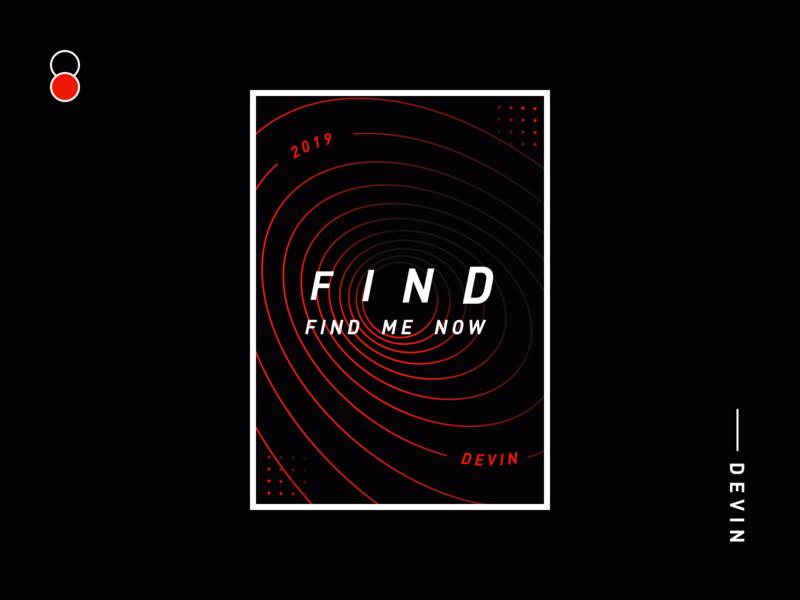 Find me now vector branding flat typography 品牌 kv 插图 illustration 设计 design