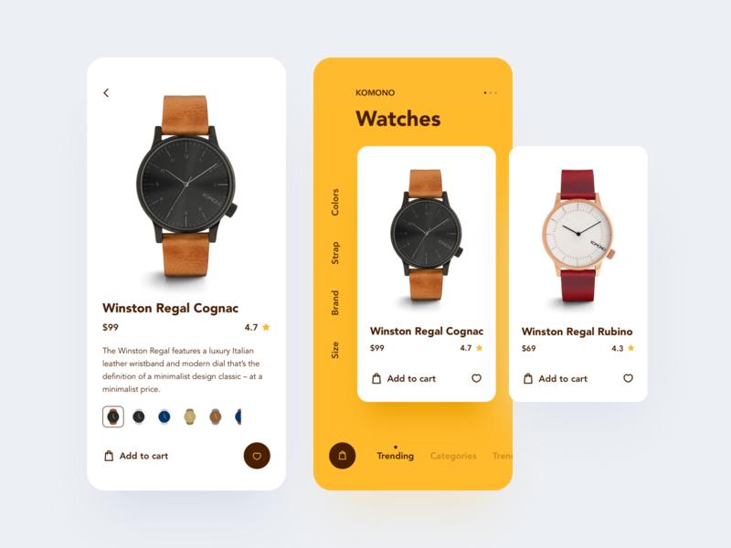 Watch App UI typography flat branding ui 设计 design