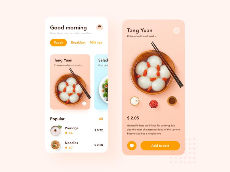Small fresh food UI typography ui mobile app mobile ui mobile ux 设计 design