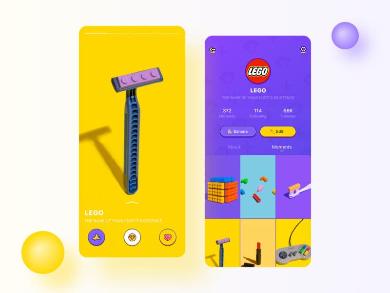 Cartoon style interface display flat vector app ui 插图 设计 design