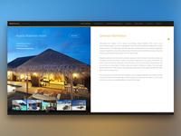 Mockup booking website