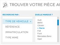 Car parts website design