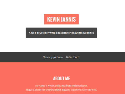 Portfolio redesign portfolio homepage redesign flat accent red modern clean simple frontend website