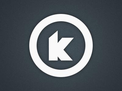 Personal Logo ui ux blue dark logo personal design k circle white shadow